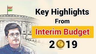 Budget 2019 India Highlights | Major Updates of Budget 2019 | Budget Highlights
