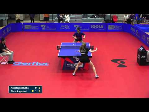 2016 NCTTA Nationals Women's Singles 1/2 Final - Anastasiia Rybka vs Neha Aggarwal