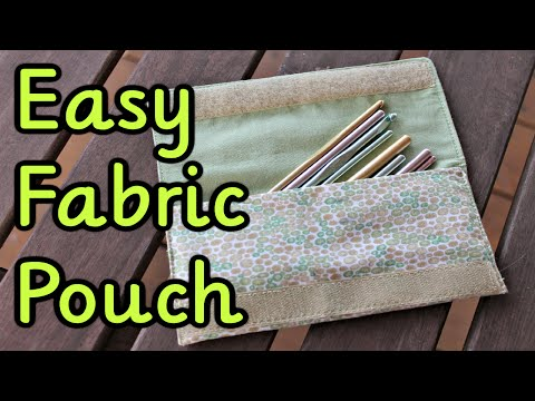 Diy Fabric Pouch ~ Sewing Tutorial