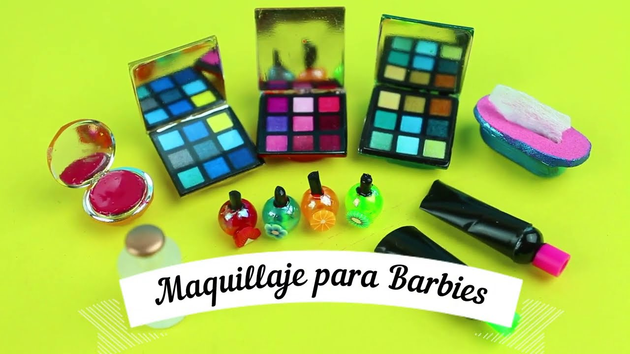 Maquillaje super facil para muñecas Barbie