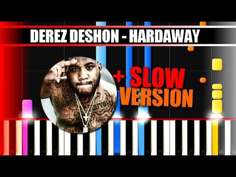 HARDAWAY (Derez Deshon) BEAT Piano Tutorial / Cover SYNTHESIA + MIDI & SHEETS