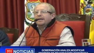 GOBERNACIÓN ANALIZA MODIFICAR DECRETO DE REACTIVACION ECONÓMICA