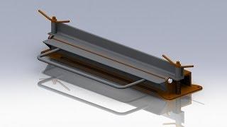 Простой листогиб своими руками из швеллера и уголков. 3D-модель.