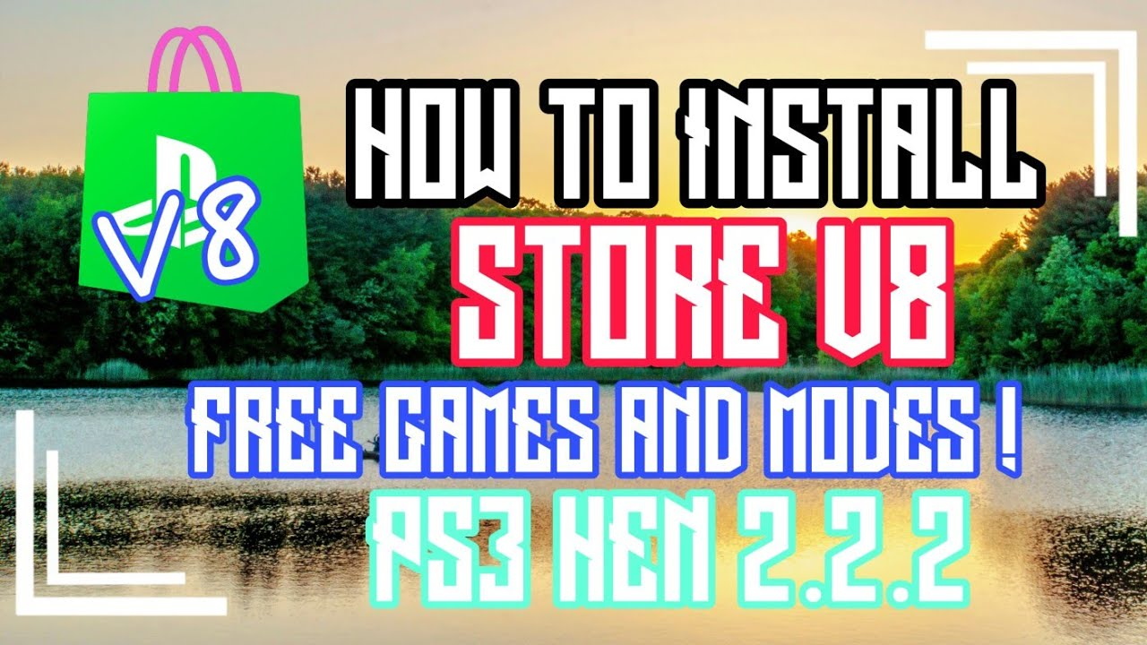 NEW HOW TO INSTALL STORE V8 PS3 HEN 2 2 2 FREE GAMES AND MODES