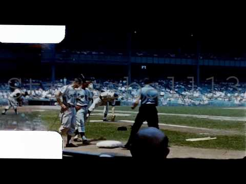 New York Yankees 8mm Amateur Footage Old Timers Day 1964 Warmup