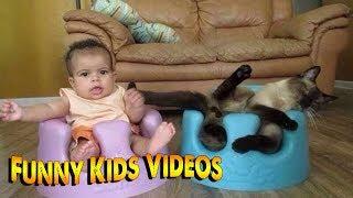 СМЕШНЫЕ ДЕТИ - ПРИКОЛЫ С ДЕТЬМИ! Попробуй не засмеяться! Смешные Видео Детей 63 Март