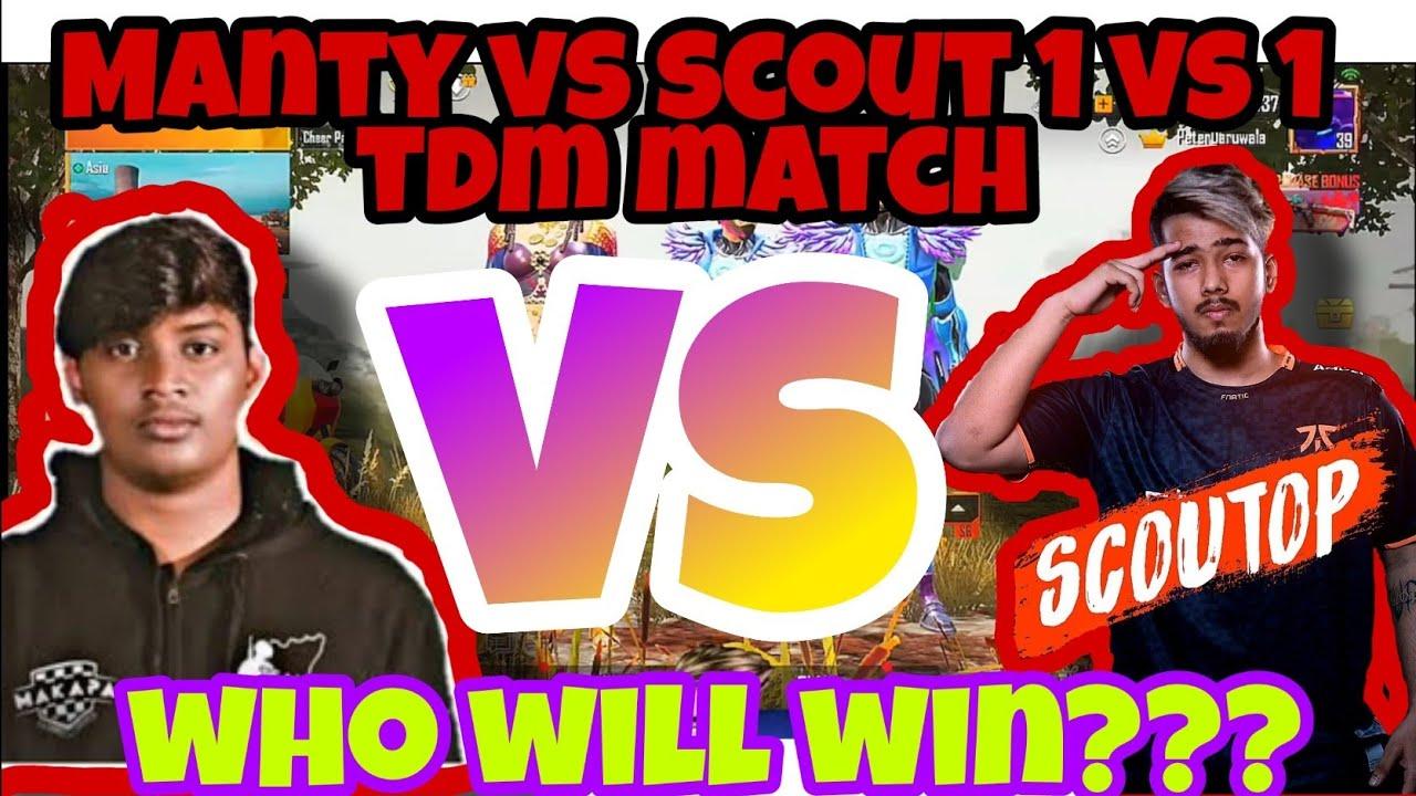 Download Manty Op vs Scout Op | 1 vs 1 Tdm match | Who will win??