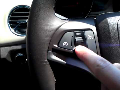Chevy Cruze Cruise Control Youtube