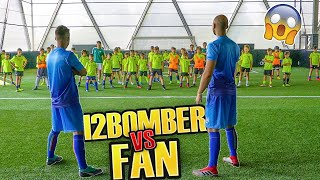 100 FAN vs I2BOMBER - PARTITA INCREDIBILE di CALCIO!!