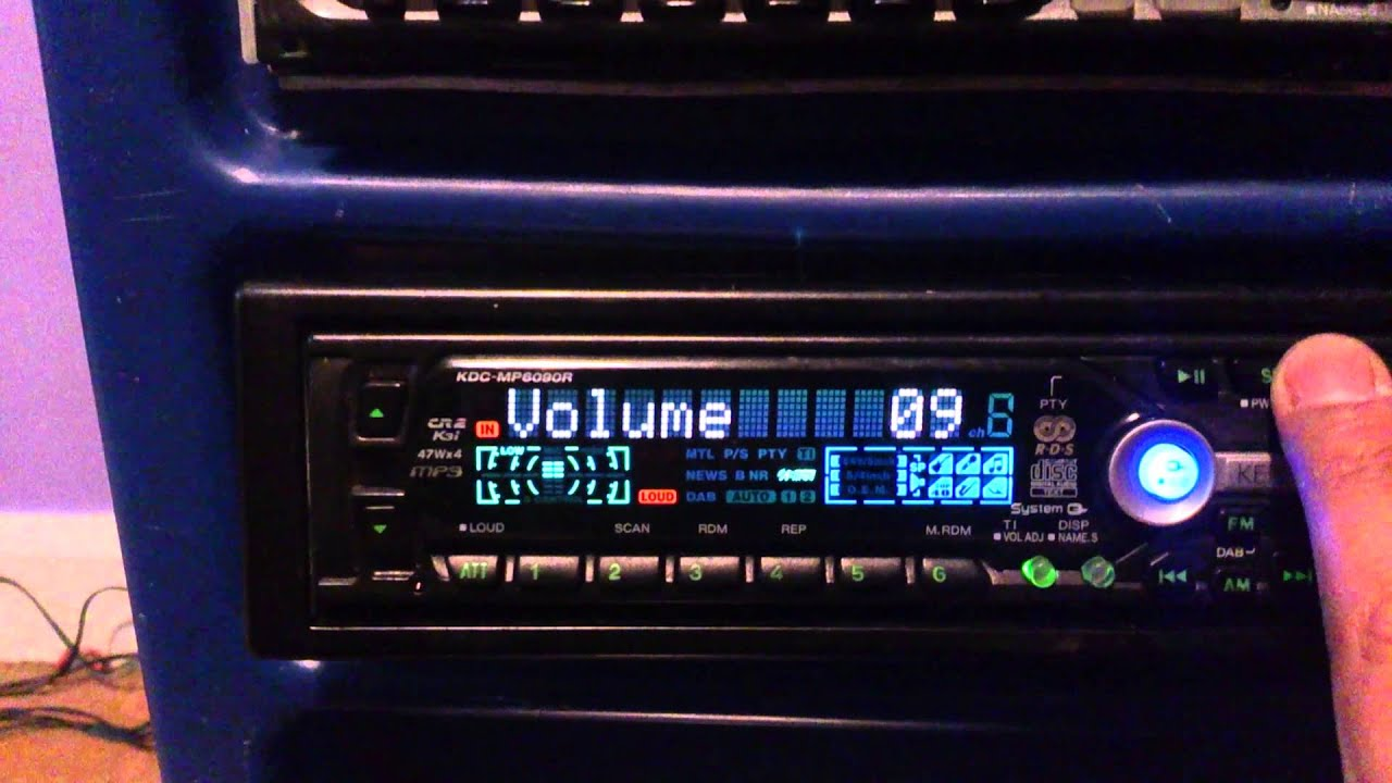 Kenwood Kdc Mp6090r Mask Old School Car Stereo Youtube