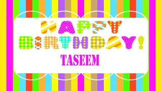 Taseem   Wishes & Mensajes