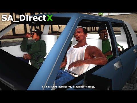 """GTA San Andreas - SA_DirectX 2.0 """"Mission #5 - Drive-thru"""" (Gameplay)"""