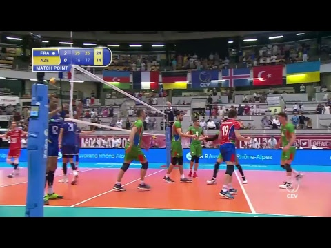 France Vs Azerbajian l 2018  FIVB Volleyball World Championship - Men European Qualification
