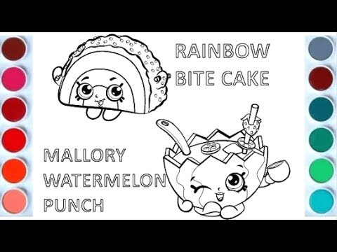 Draw and Color Rainbow Bite Cake