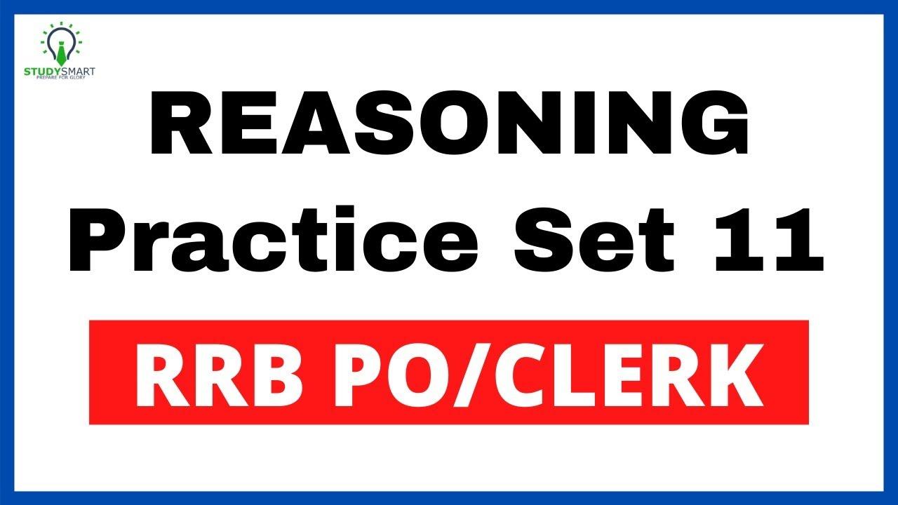 RRB PO Seating  Syllogism, Coding Decoding & Direction Sense Reasoning Practice Set 11