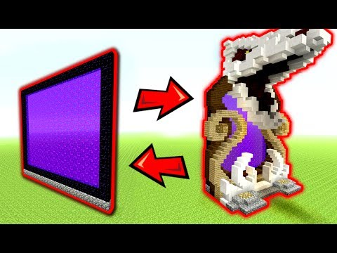 How to Build a DRAGON PORTAL - Minecraft Tutorial