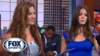 Miesha Tate Teaches Katie Nolan MMA Takedowns