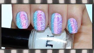 Стемпинг. Маникюр с тинтами для ногтей | Nail Stamping Tutorial Using Tints
