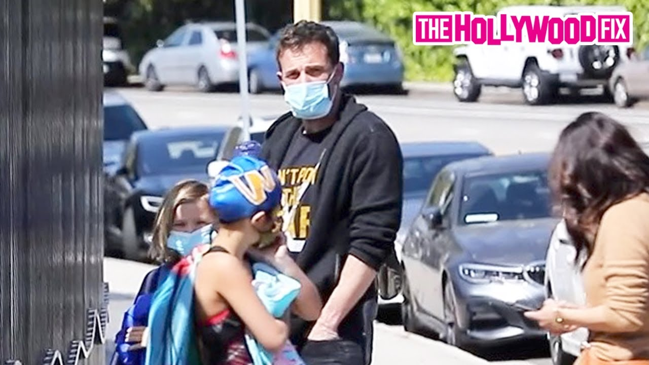 Ben Affleck Gets Back To Daddy Duty By Taking His Son Samuel To Swim Practice In Pacific Palisades