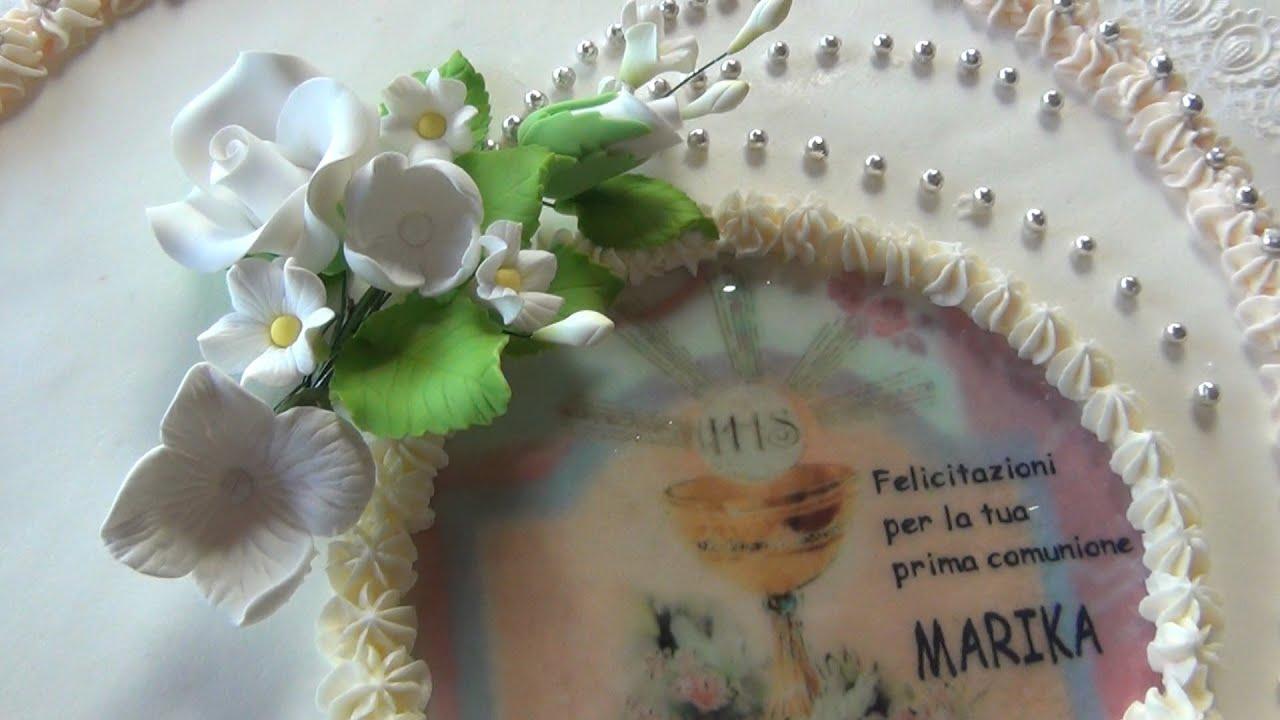 Favori Torta Prima Comunione,TUTORIAL con OSTIA, FACILE e VELOCE - YouTube QK98