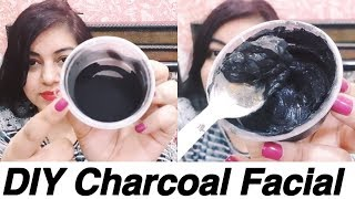 dIY Charcoal Facial for Glowing Skin | Blackheads, Whiteheads Removal | JSuper Kaur