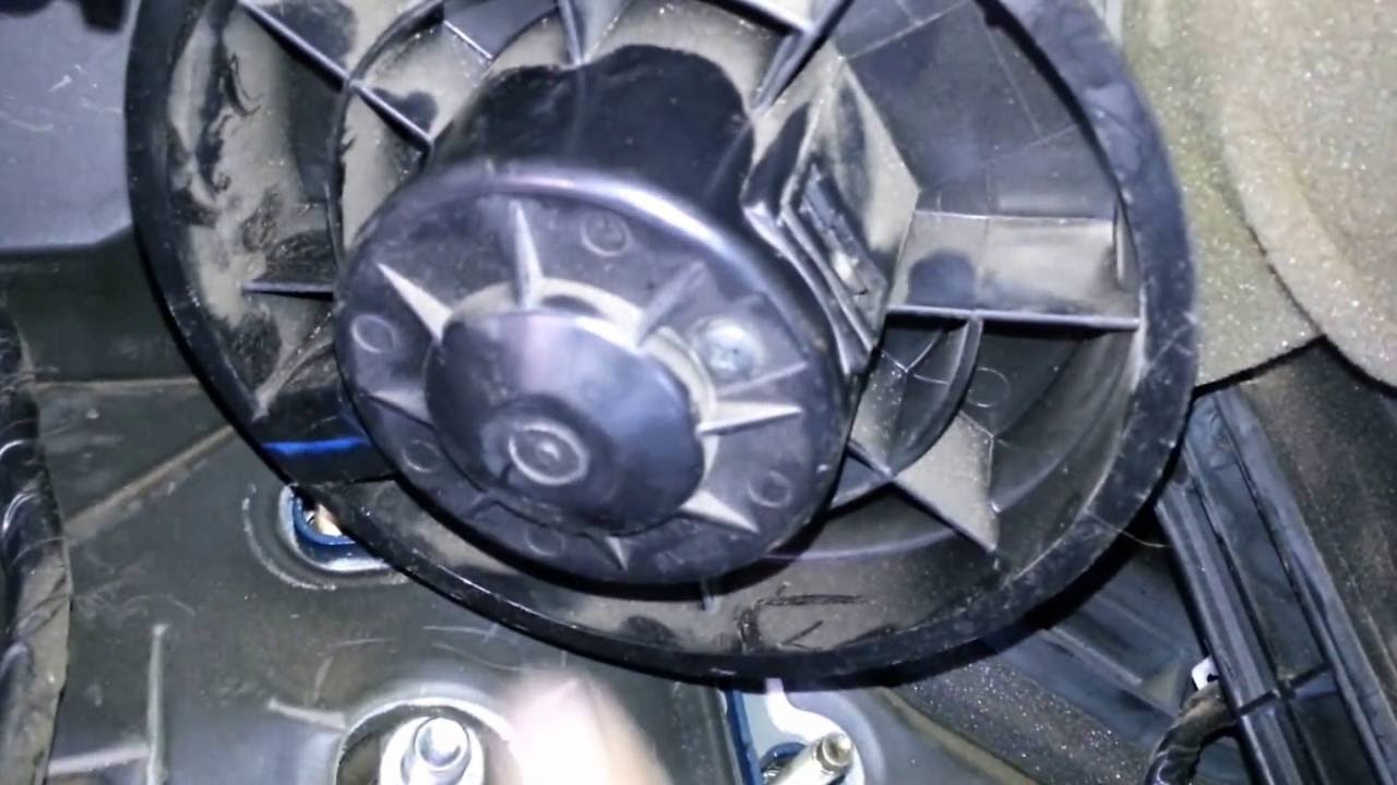 Replacing The Blower Motor on a 2008 Nissan Sentra (without removing the  dashboard)