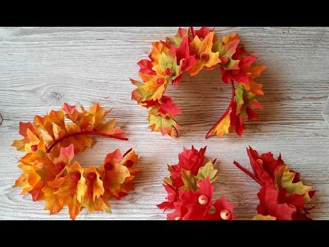 Венок из листьев своими руками на тему осень