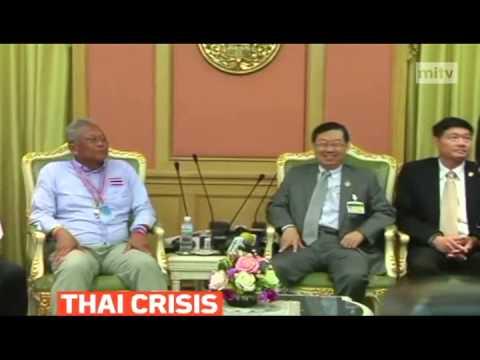 mitv - Leader of Suthep Thaugsuban meets with Surachai Liengboonlertchai