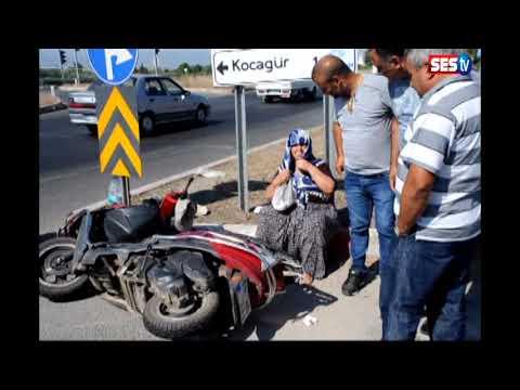 Kaza geçiren kadın, ATV'nin başından ayrılmadı