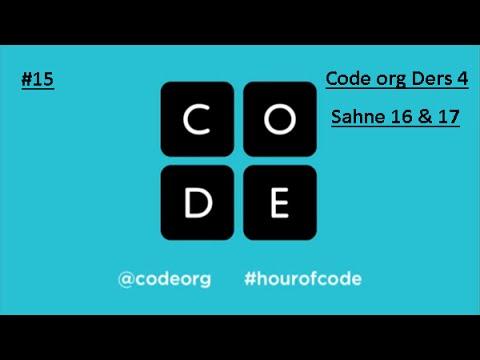 Code Org Ders4 sahne 16 ve 18 çözümleri