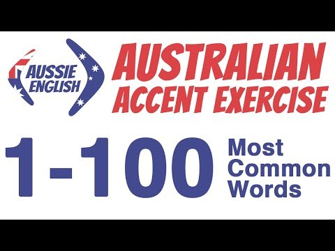 1-100 Most Common Words | Australian Accent Pronunciation Exercise | Learn Australian Accent