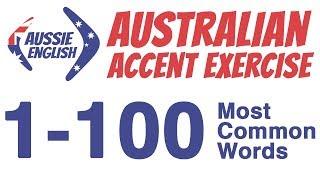 Baixar 1-100 Most Common Words | Australian Accent Pronunciation Exercise | Learn Australian Accent
