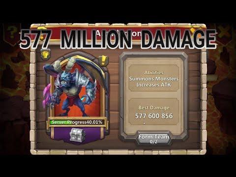 500 Million Damage On Archdemon That Summons Eye Catchers Castle Clash