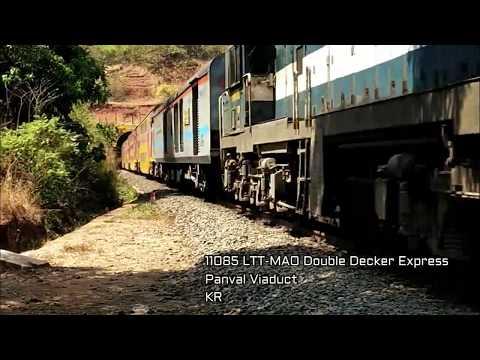 Konkan Railway : Goa Double Decker Express At Fullest...........