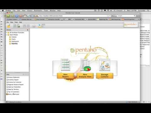 Pentaho Report Designer V3.5 - 3: Publishing A Report To The BI Server