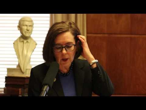 Oregon governor discusses