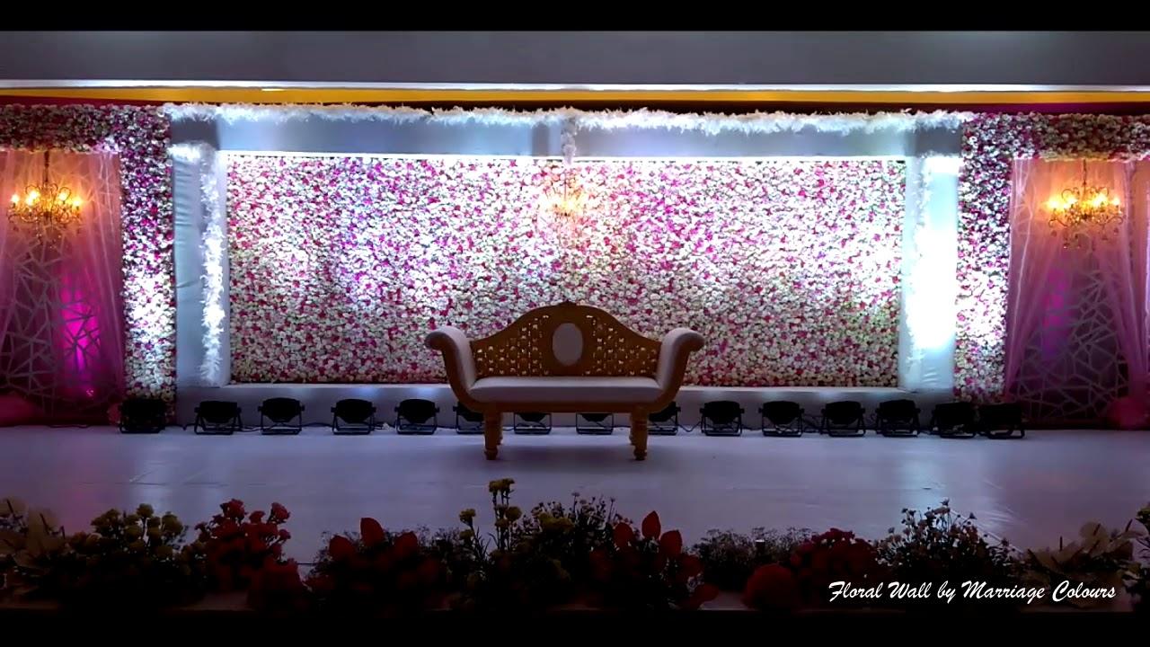 Pastel Flower Wall Wedding Reception Backdrop Youtube