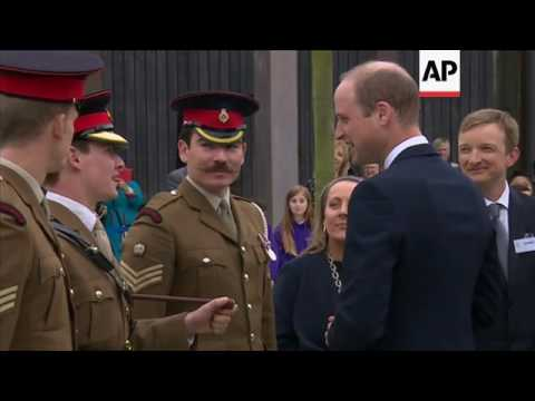 Prince William lays wreath for PC Keith Palmer at National Memorial Arboretum in Staffordshire
