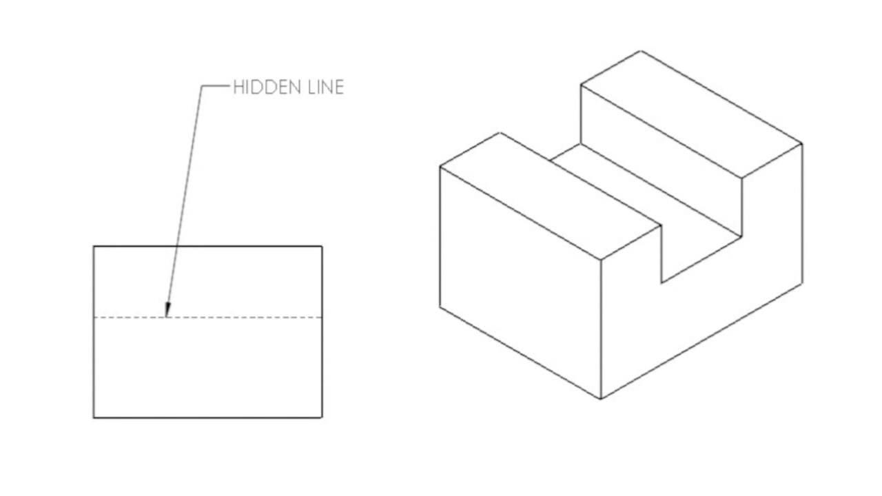 Drawing With Hidden Lines : Hidden lines youtube