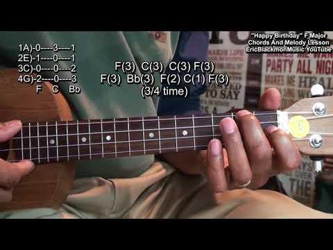 Happy Birthday Ukulele Chords And Melody Lesson F Major