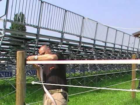 recinzione elettrica gallagher fettuccia youtube