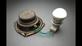 Free Energy Generator light bulb with Speaker / New Technology at Home.