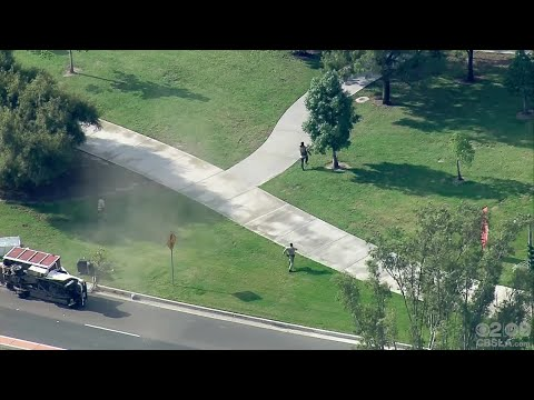 Police Pursuit Comes To Violent End In Seal Beach