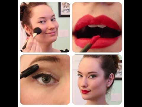 everyday pinup makeup tutorial the rachel dixon retro rockabilly vintage red lip cat eye how. Black Bedroom Furniture Sets. Home Design Ideas