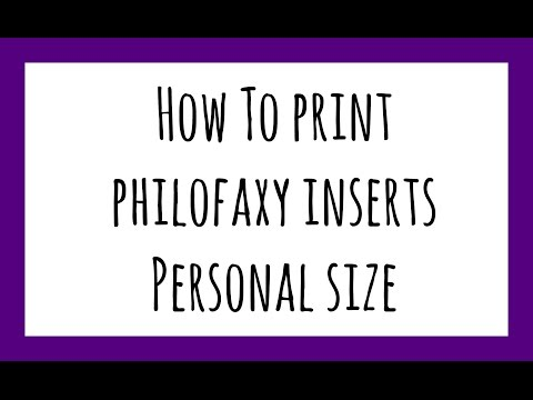 Tuesday Tip: How To Print Philofaxy Inserts - Personal Size Planner