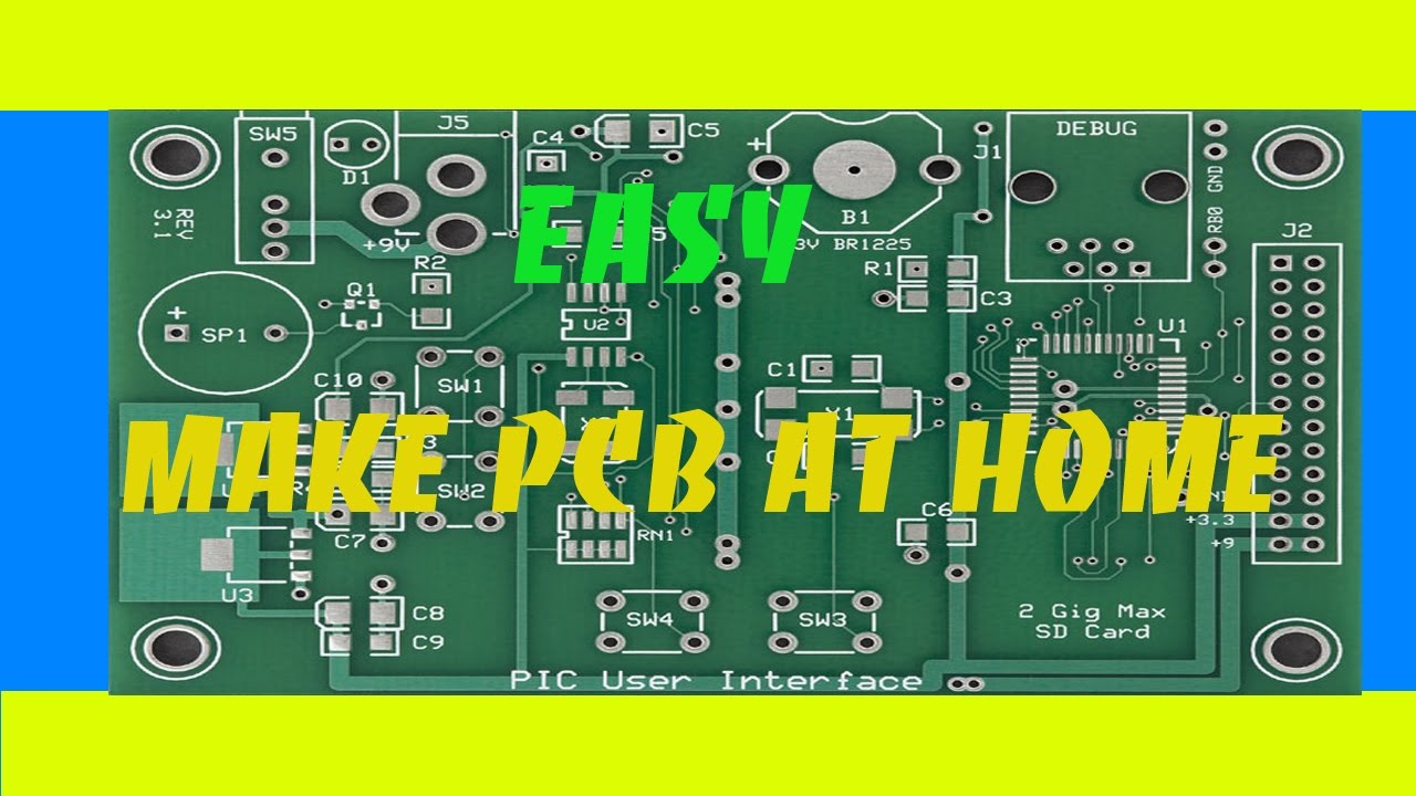 How To Make PCB At Home - DIY Products - YouTube