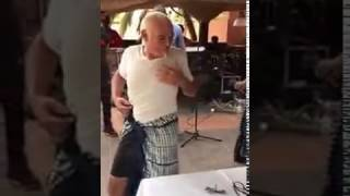 A white man dancing Senegalese music , Amazing.