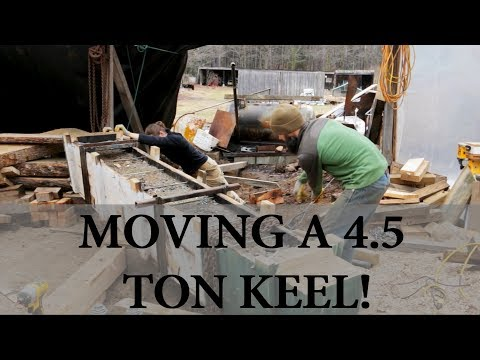Moving a 4 5 ton keel - Acorn to Arabella