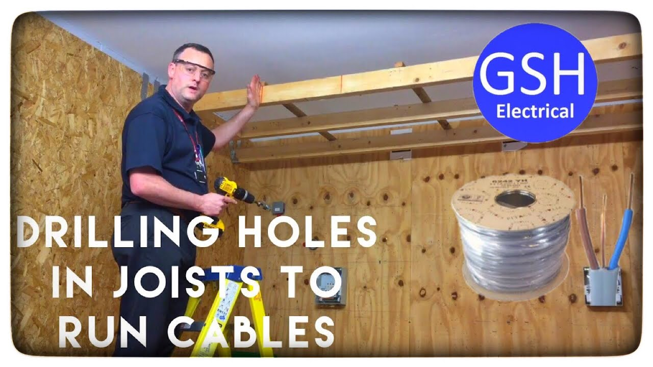 hight resolution of drilling holes in joists to run cables wires through installation considerations inc calculations