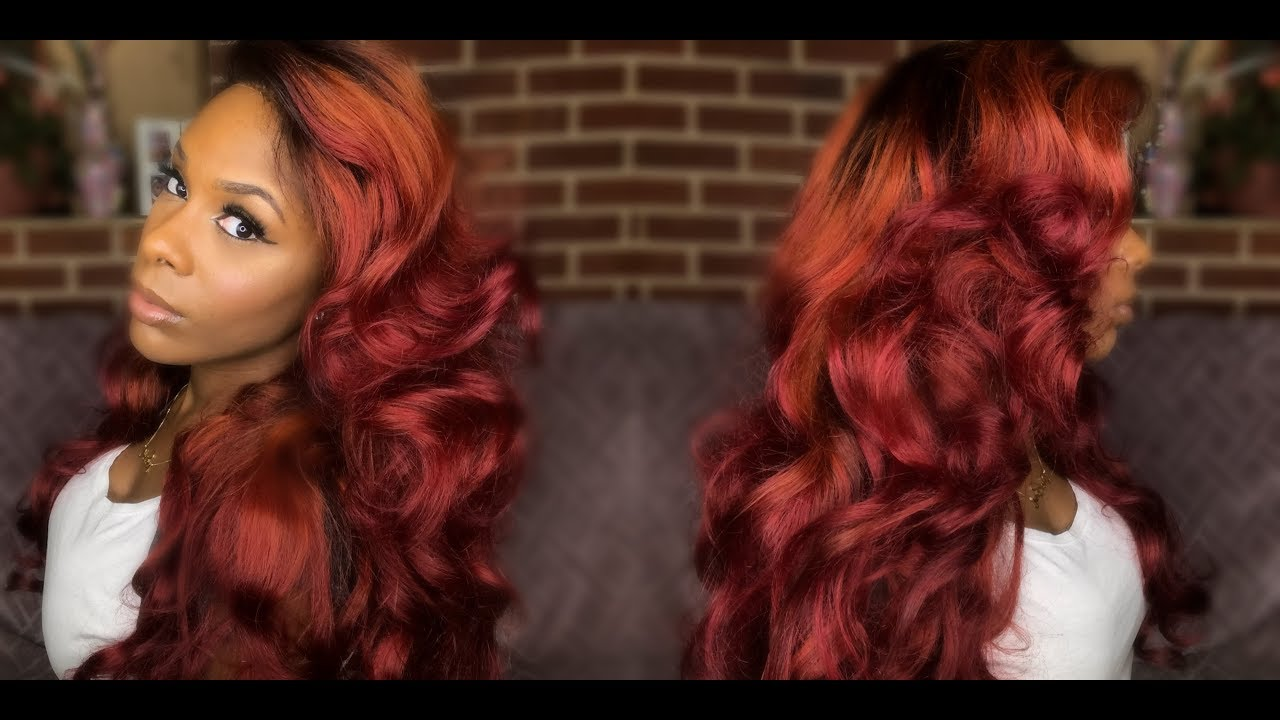 Dying My Bundles Bomb Fire Fall Hair Aliexpress Alibele Peruvian